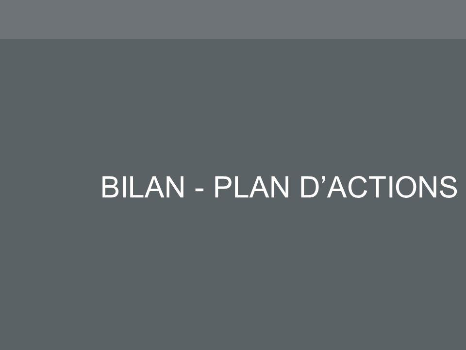 BILAN - PLAN DACTIONS