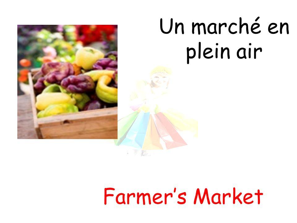 Un marché en plein air Farmers Market