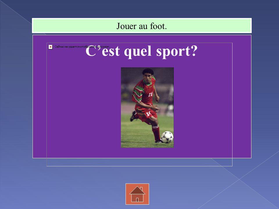 Cest quel sport? Jouer au foot.