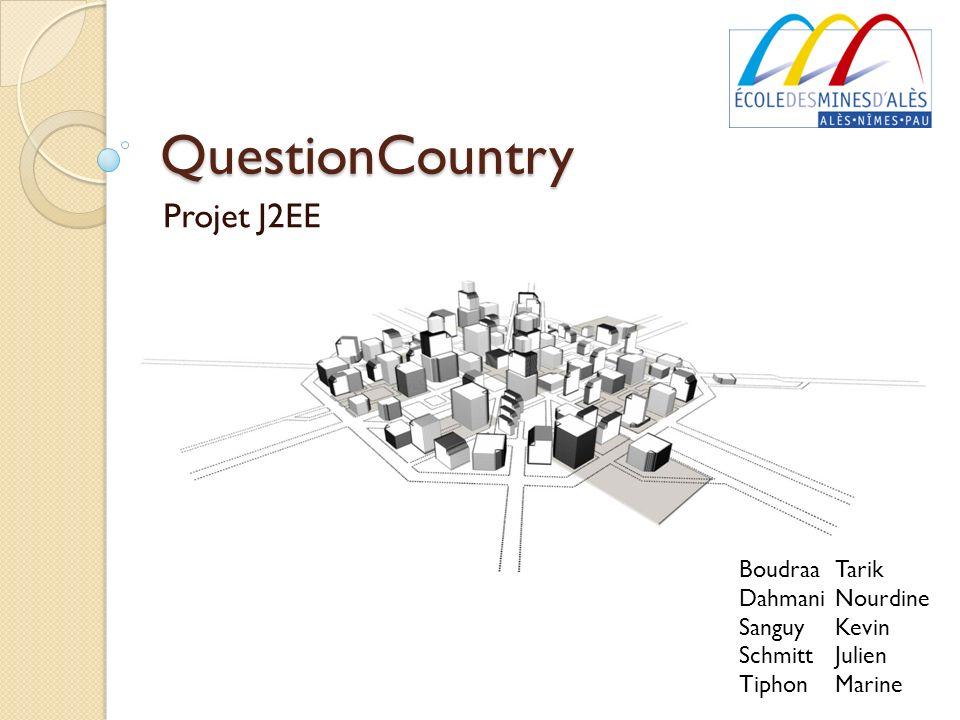 QuestionCountry Projet J2EE Boudraa Tarik Dahmani Nourdine Sanguy Kevin Schmitt Julien Tiphon Marine