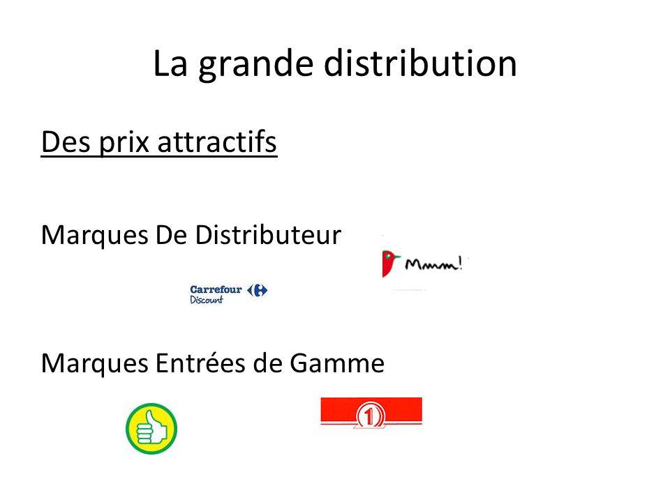 La grande distribution Des prix attractifs Marques De Distributeur Marques Entrées de Gamme