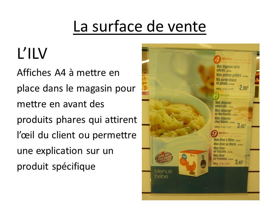 La surface de vente LILV Affiches A4 à mettre en place dans le magasin pour mettre en avant des produits phares qui attirent lœil du client ou permett