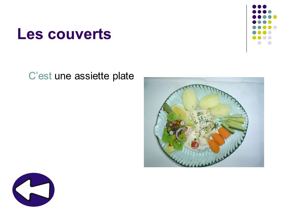 Les couverts Cest une assiette plate