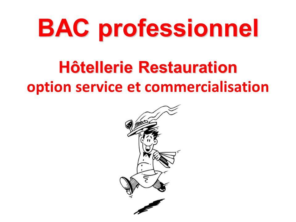 BAC professionnel Hôtellerie Restauration option service et commercialisation