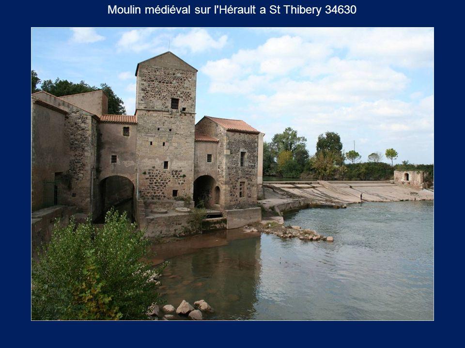 Moulin médiéval sur l'Hérault a St Thibery 34630