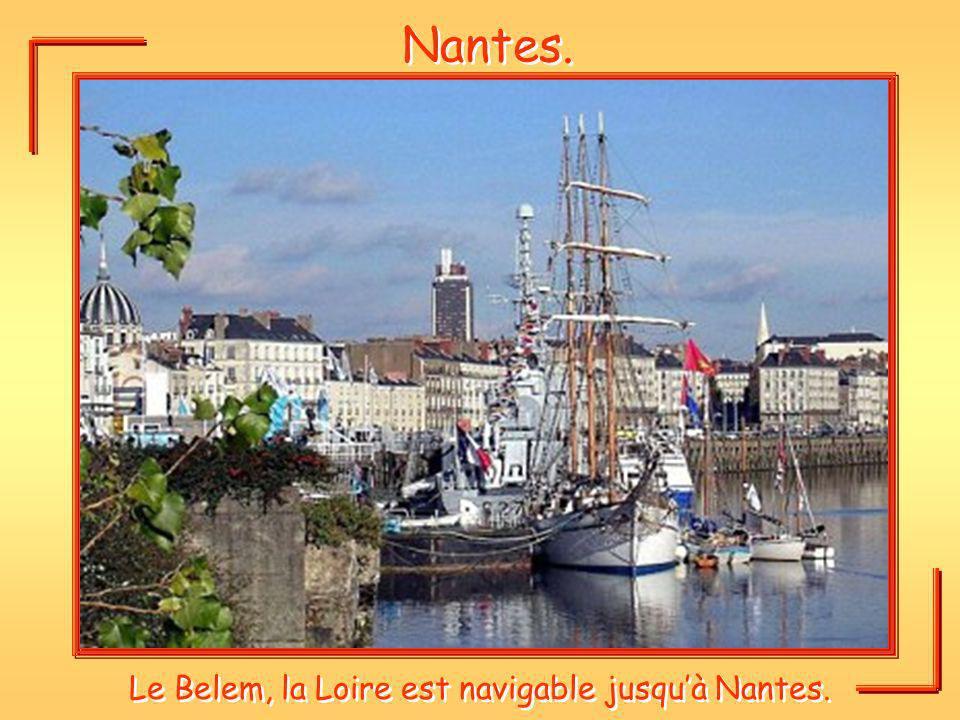 Nantes. Le Belem, la Loire est navigable jusquà Nantes.