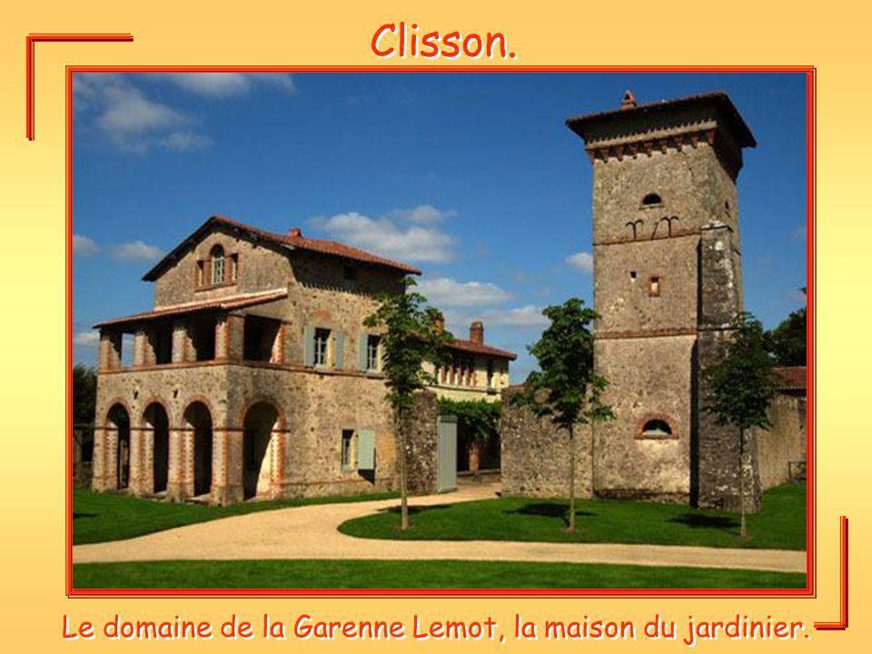 Clisson. Le domaine de la Garenne Lemot, la maison du jardinier.