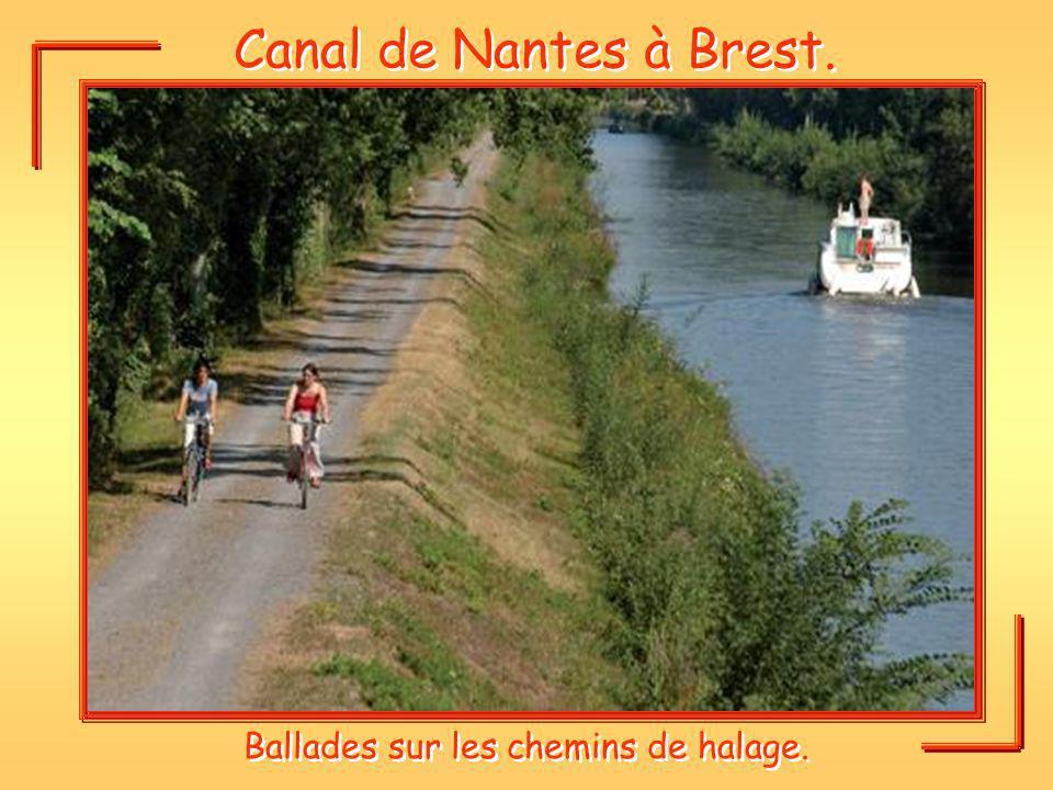 Canal de Nantes à Brest. Ballades sur les chemins de halage.