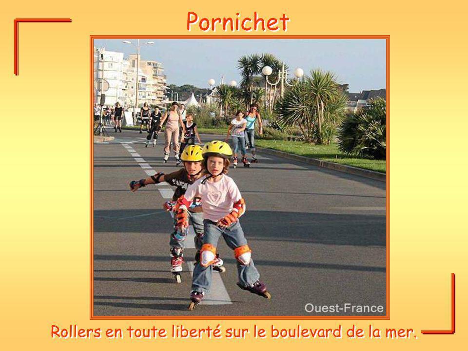 Pornichet Rollers en toute liberté sur le boulevard de la mer.