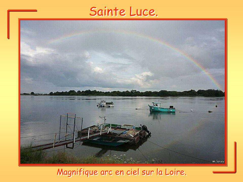 Sainte Luce. Magnifique arc en ciel sur la Loire.