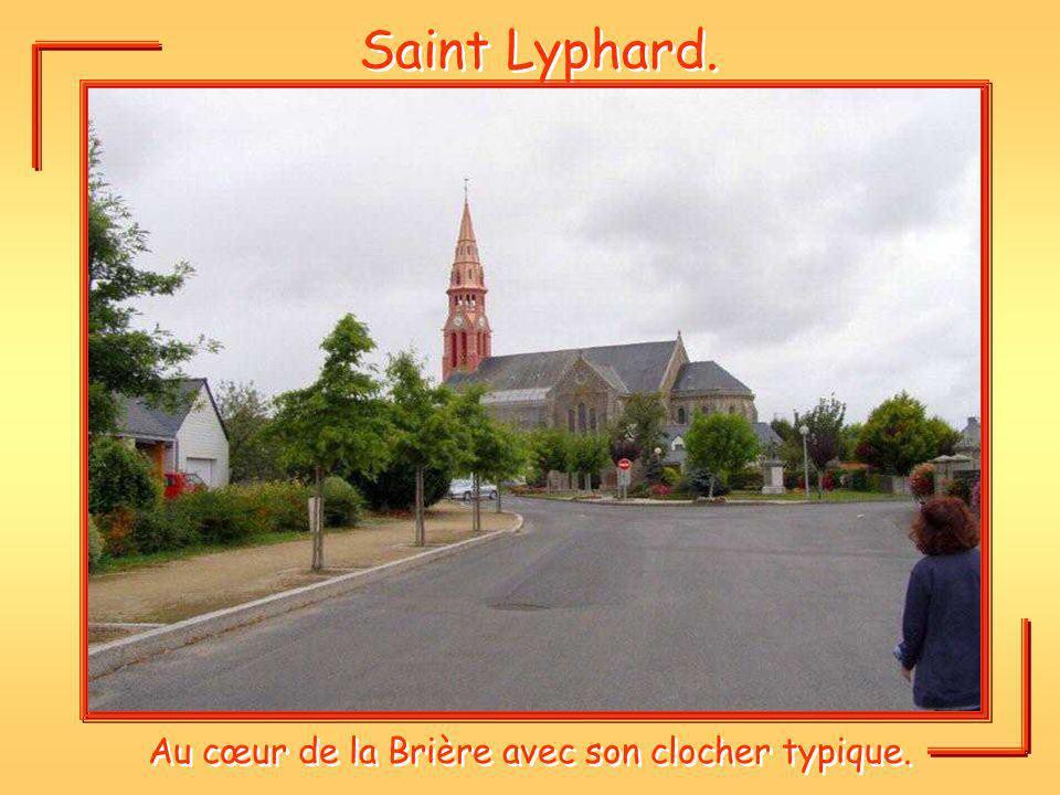 Saint Lyphard. Au cœur de la Brière avec son clocher typique.