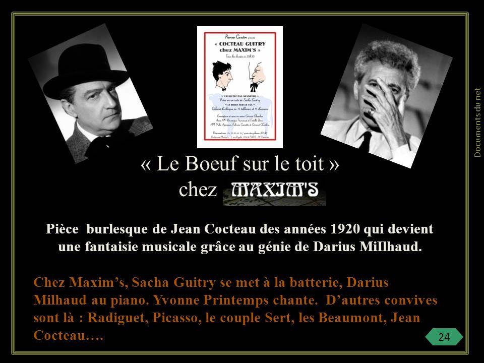 Après la guerre 14-18, on continue de fréquenter le cabaret. Jean Cocteau, comme Sacha Guitry, deviennent les habitués de chez Maxims. Les canulars vo