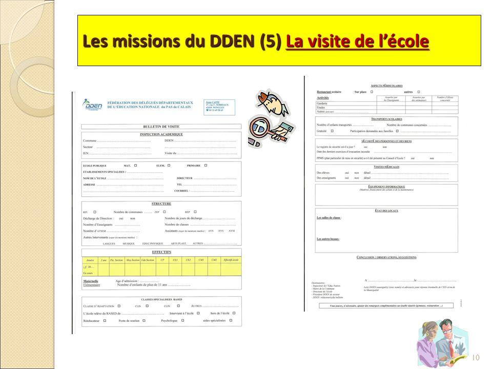 Les missions du DDEN (5) La visite de lécole 10