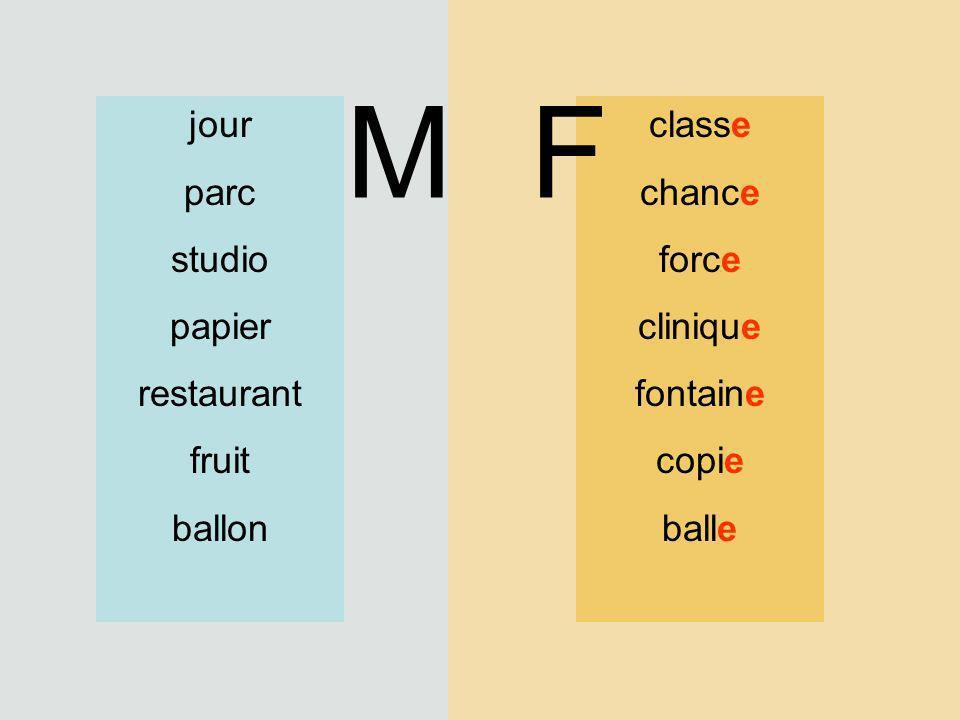 classe chance force clinique fontaine copie balle jour parc studio papier restaurant fruit ballon MF