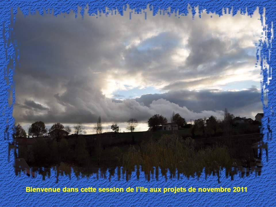 Bienvenue dans cette session de lIle aux projets de novembre 2011