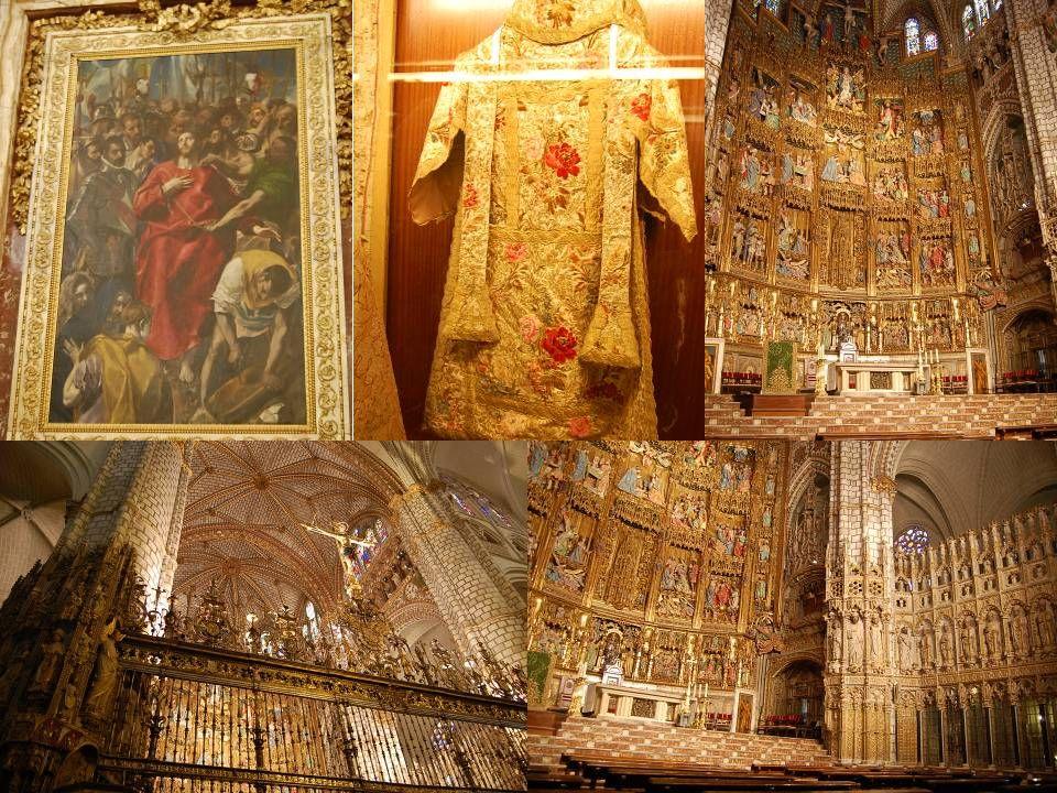 La cathédrale Sainte-Marie de Tolède est le siège de l archevêché du même nom, qui possède le titre de primat d Espagne, et ce depuis les Wisigoths qui avaient fait de la ville leur capitale politique et religieuse.