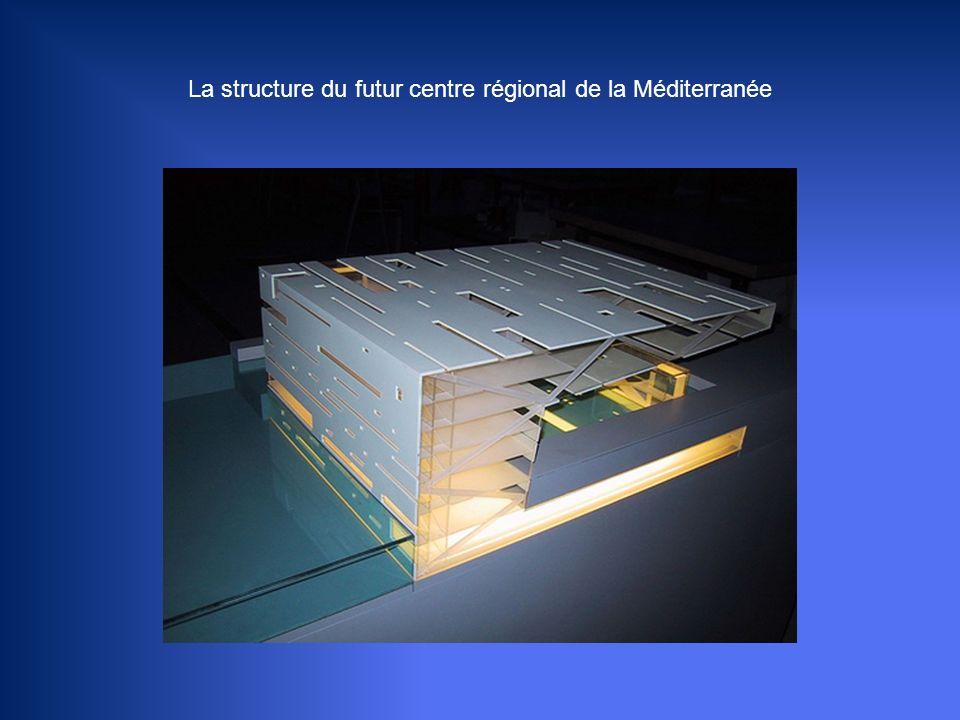 Le Centre régional de la Méditerranée devrait voir le jour près du Mucem en 2011 sur l'ancien site du J4 (hangar du port). Le dessin du bâtiment imagi