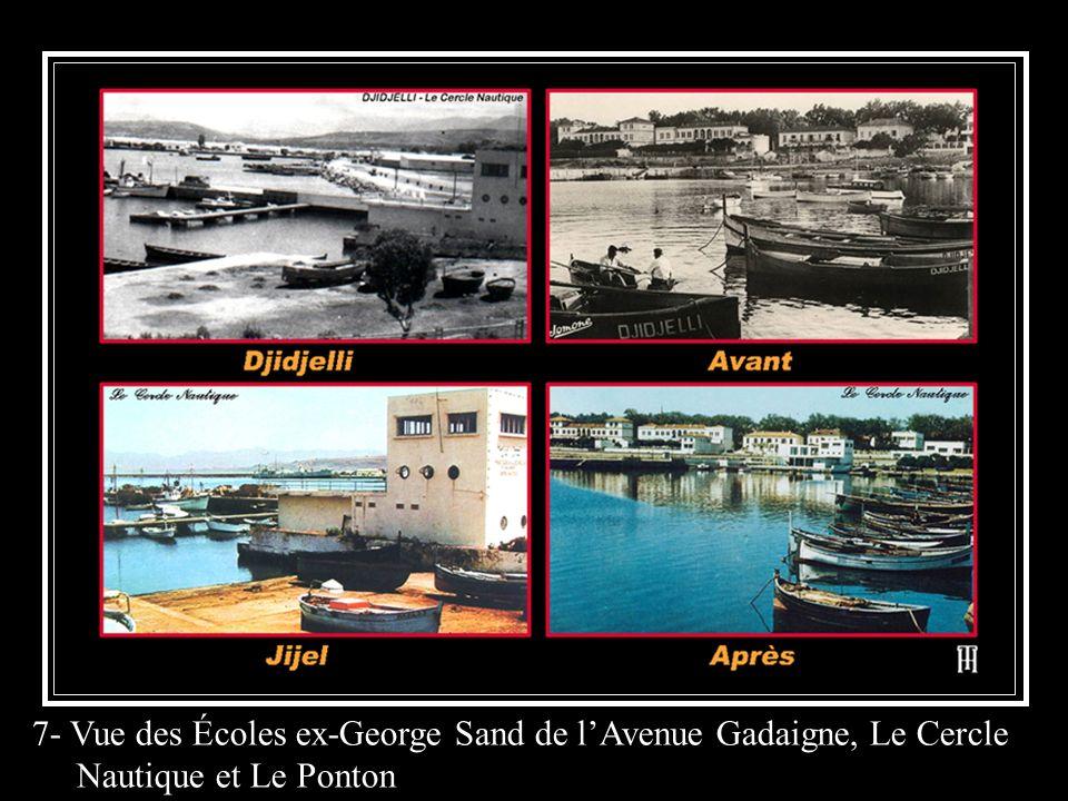 7- Vue des Écoles ex-George Sand de lAvenue Gadaigne, Le Cercle Nautique et Le Ponton