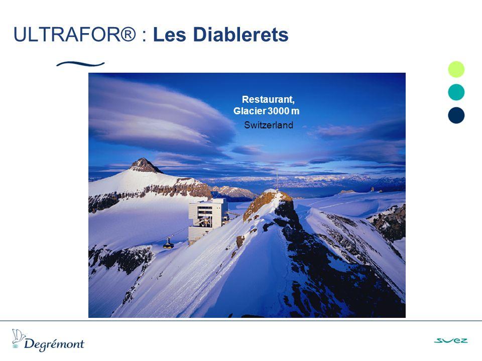 ULTRAFOR® : Les Diablerets Restaurant, Glacier 3000 m Switzerland