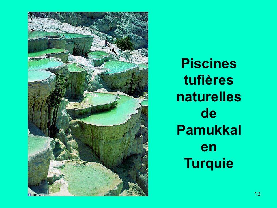 13 Piscines tufières naturelles de Pamukkal en Turquie