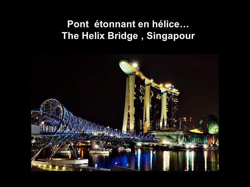 16 Pont étonnant en hélice… The Helix Bridge, Singapour