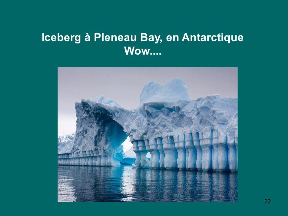 22 Iceberg à Pleneau Bay, en Antarctique Wow....