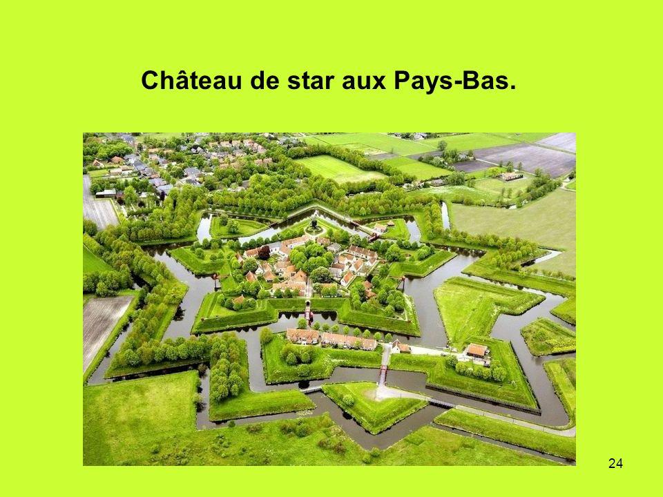 24 Château de star aux Pays-Bas.