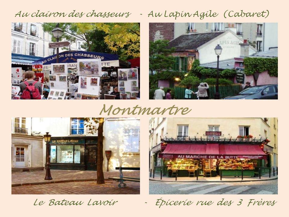- Montmartre - La fontaine Wallace - La tour du télégraphe Jardins autour du Sacré-Cœur