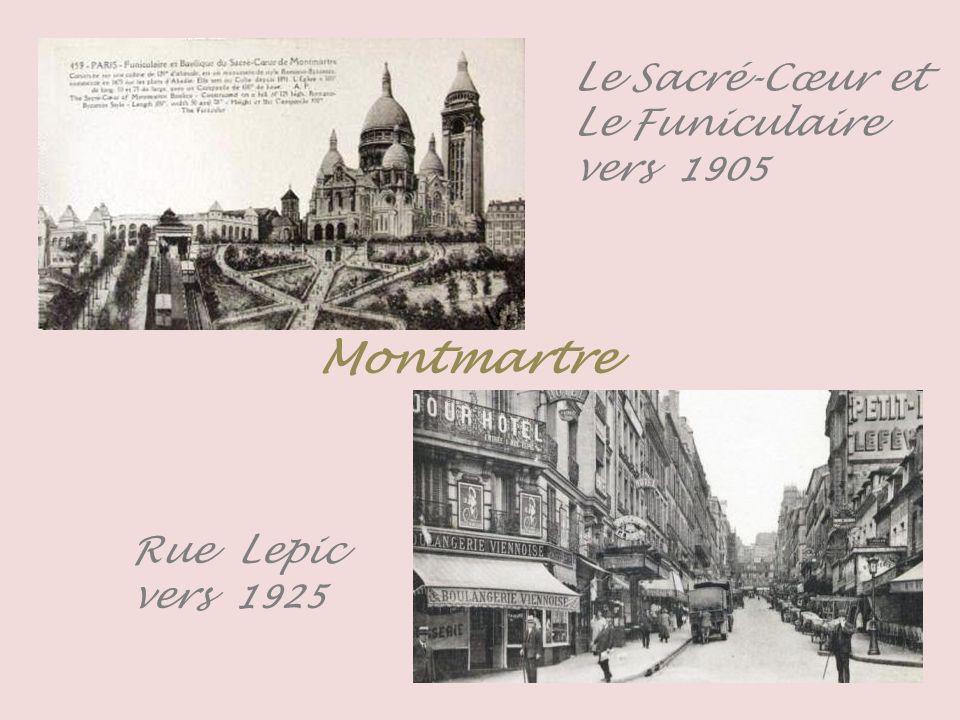 Le Sacré-Cœur et Le Funiculaire -vers 1906- Montmartre