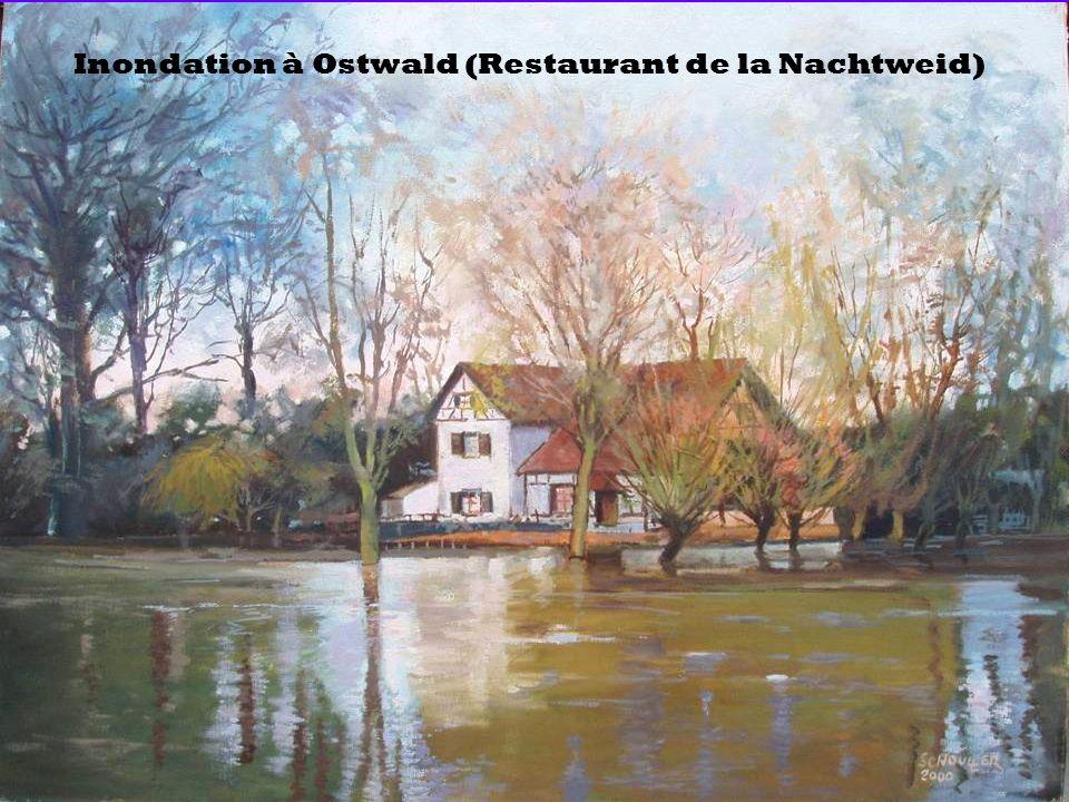Inondation à Ostwald (Restaurant de la Nachtweid)