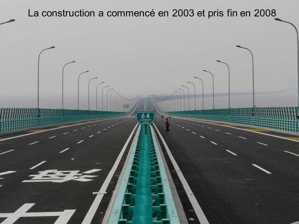 7 Linauguration a eu lieu en mai 2008, Plus de 600 ingénieurs, dessinateurs industriels, architectes et créateurs chinois ont pris 9 ans à la planification, la préparation et les dessins pour la réalisation de ce pont.