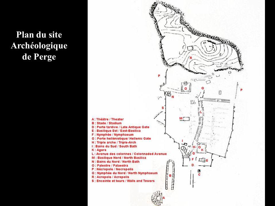 Plan du site Archéologique de Perge