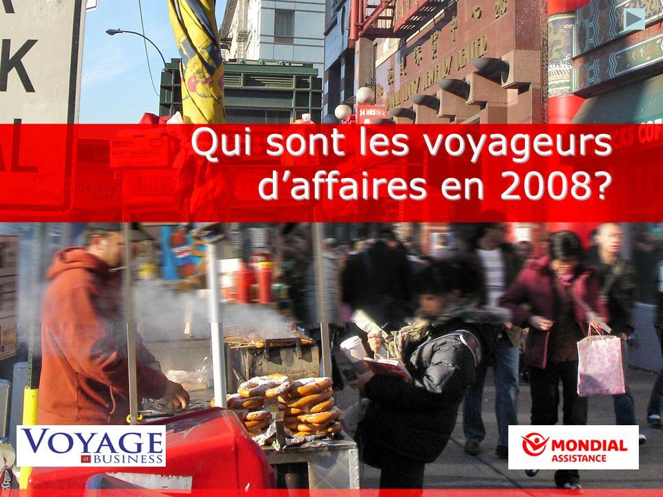Qui sont les voyageurs daffaires en 2008?