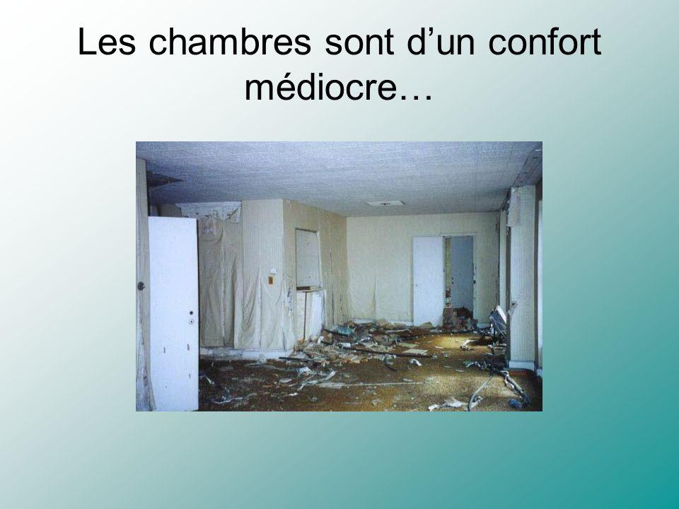 Les chambres sont dun confort médiocre…