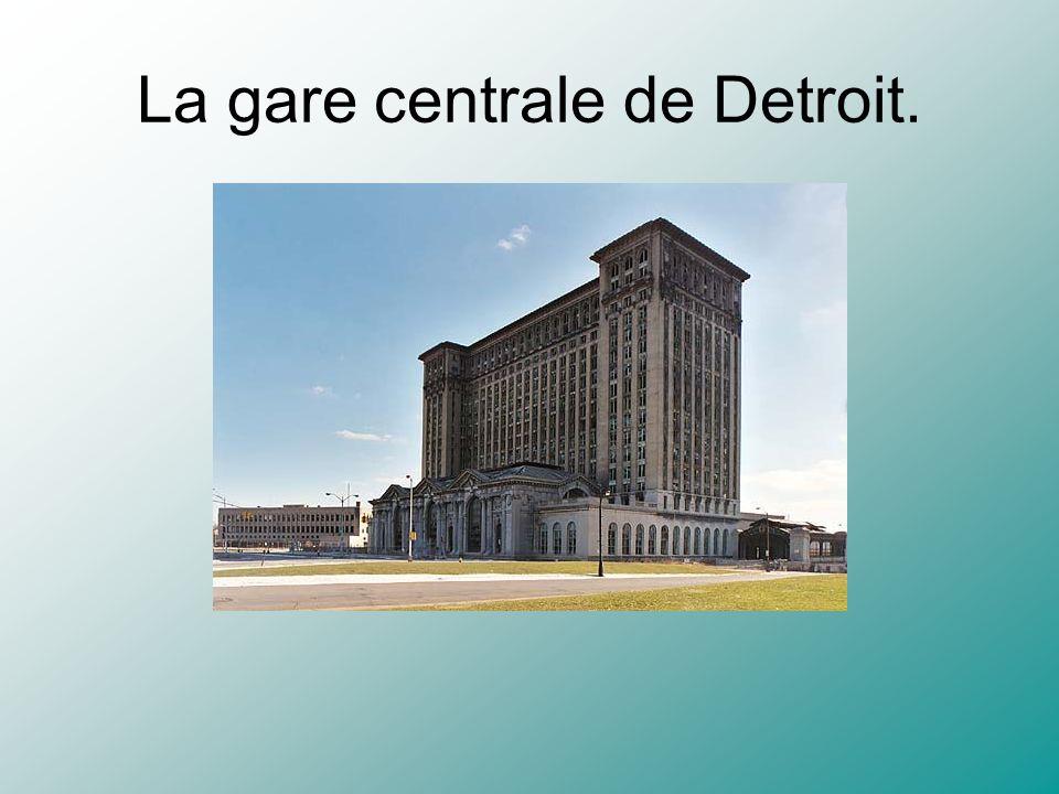 La gare centrale de Detroit.