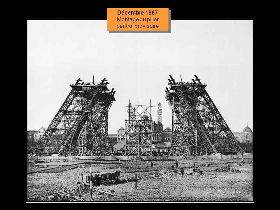 Le montage de la structure métallique commence le 1er juillet 1887 et sachevera 21 mois plus tard, le 31 mars 1889. Tous les éléments sont préparés à