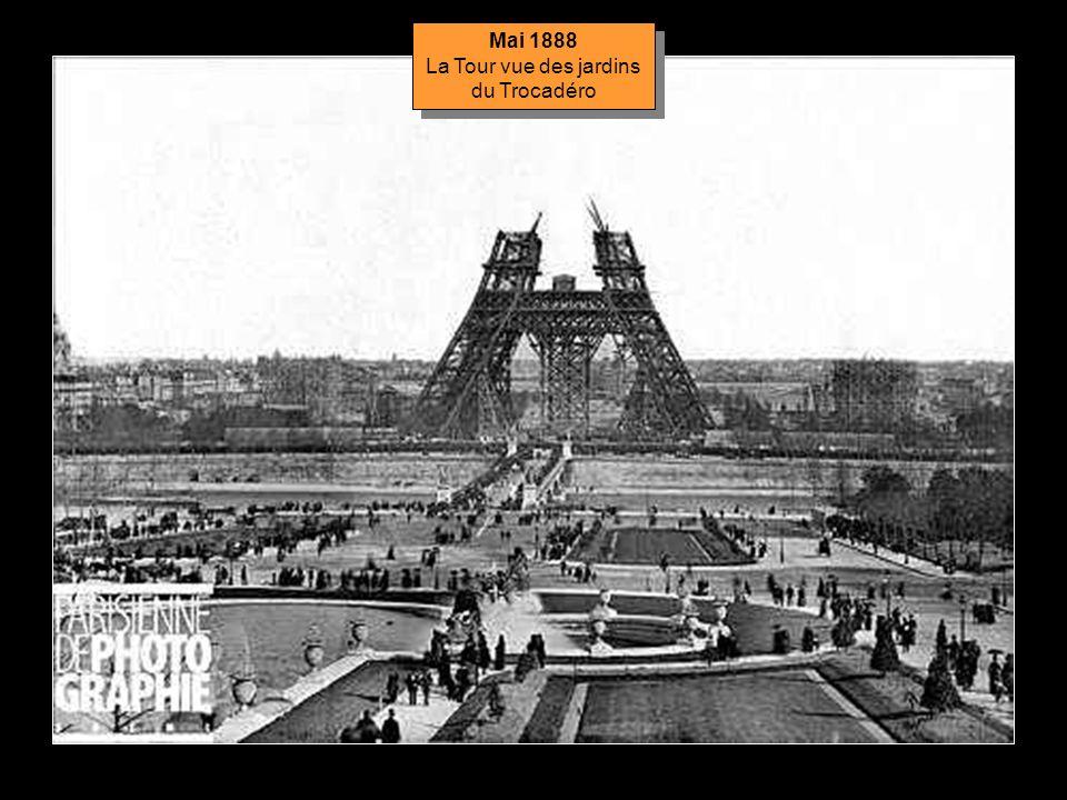 Mai 1888 Montage des piliers du 2 ème étage Mai 1888 Montage des piliers du 2 ème étage
