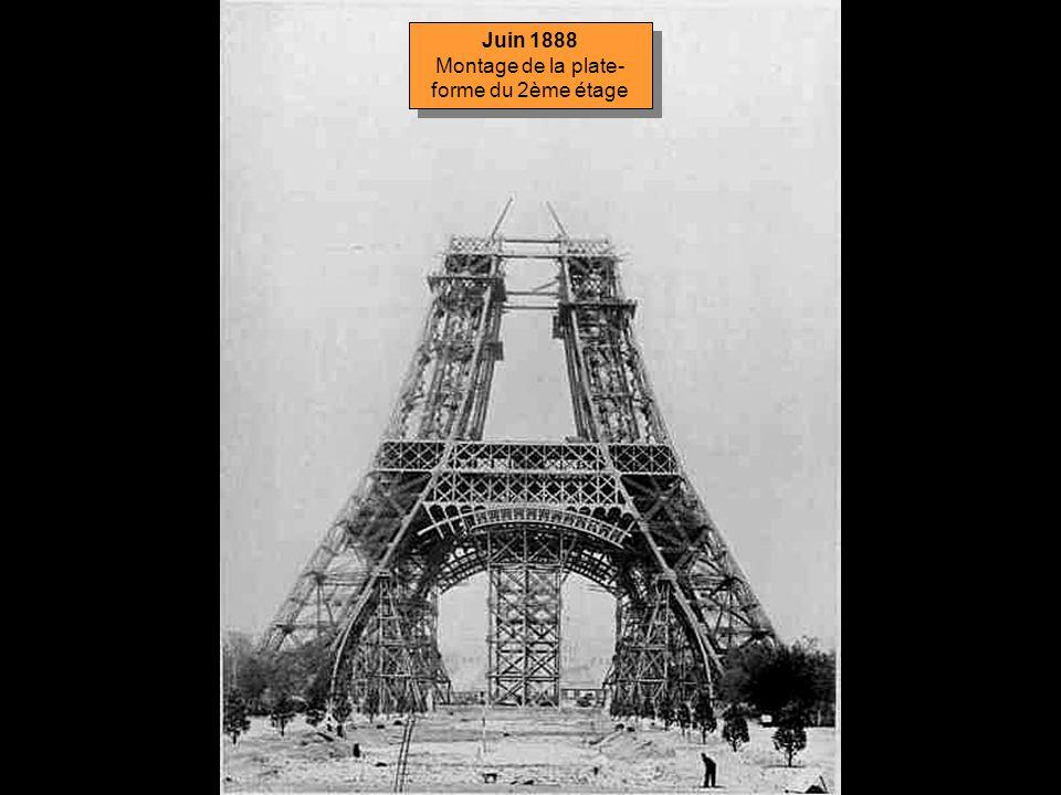Mai 1888 La Tour vue des jardins du Trocadéro Mai 1888 La Tour vue des jardins du Trocadéro