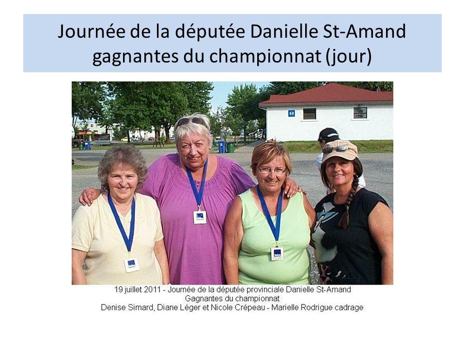 Journée de la députée Danielle St-Amand gagnantes du championnat (jour)