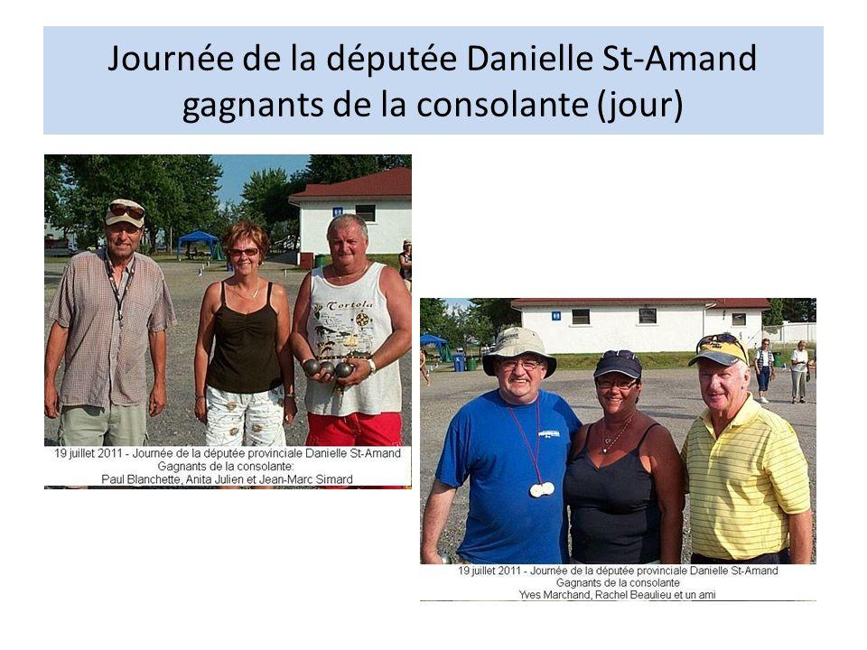 Journée de la députée Danielle St-Amand gagnants de la consolante (jour)