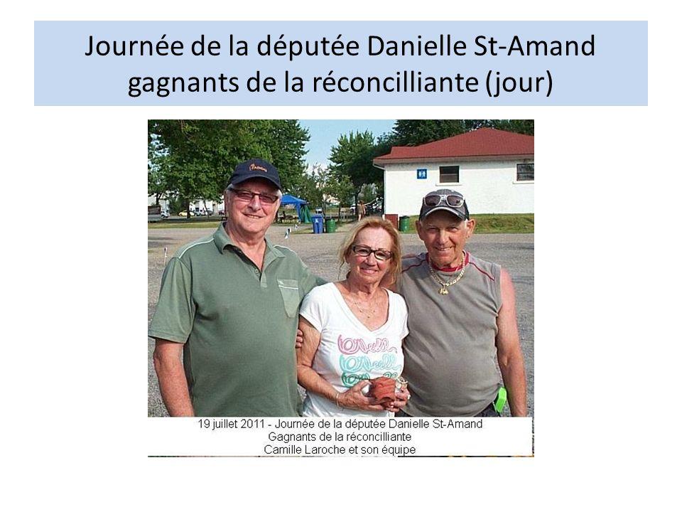 Journée de la députée Danielle St-Amand gagnants de la réconcilliante (jour)