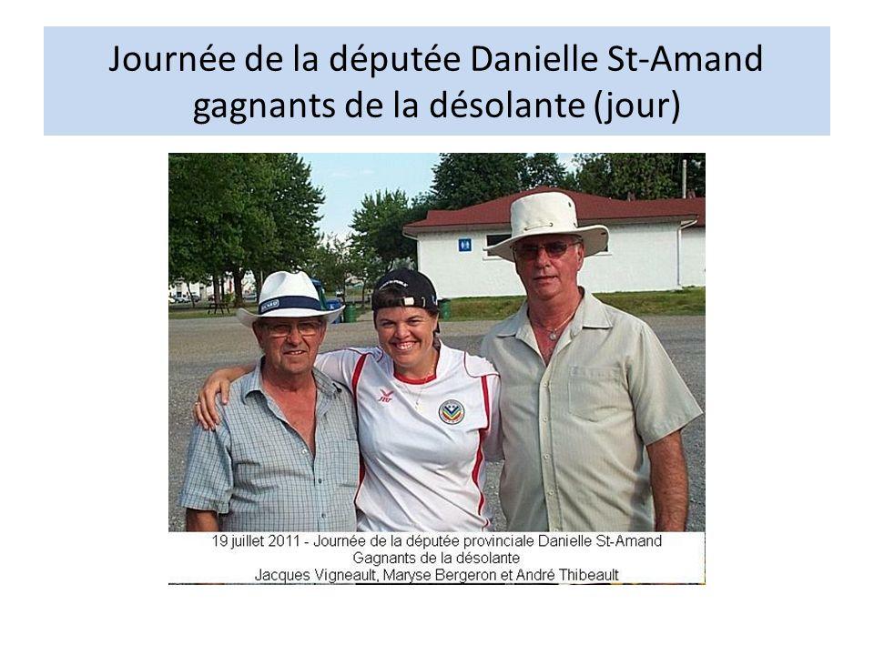 Journée de la députée Danielle St-Amand gagnants de la désolante (jour)