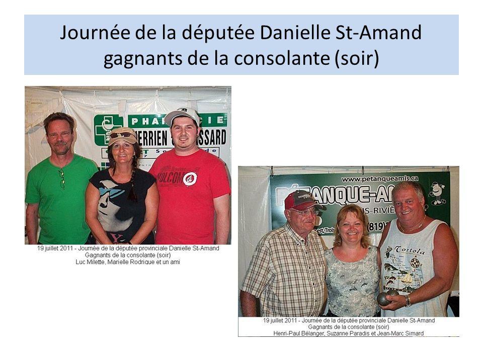 Journée de la députée Danielle St-Amand gagnants de la consolante (soir)