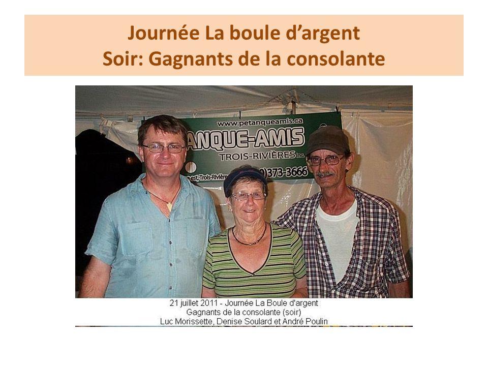Journée La boule dargent Soir: Gagnants de la consolante