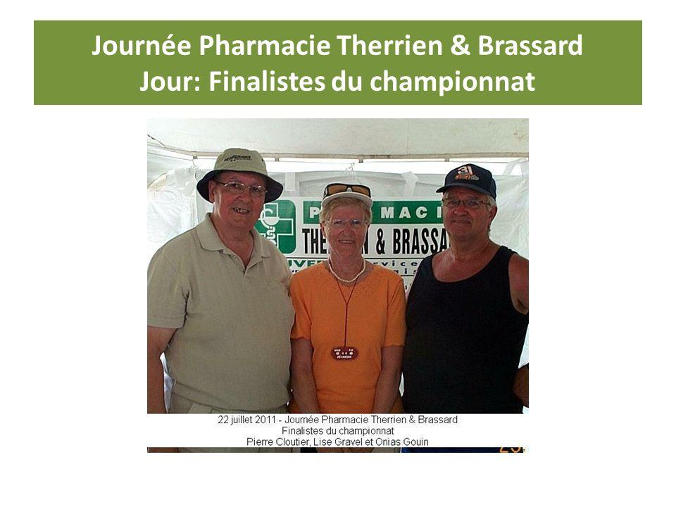 Journée Pharmacie Therrien & Brassard Jour: Finalistes du championnat
