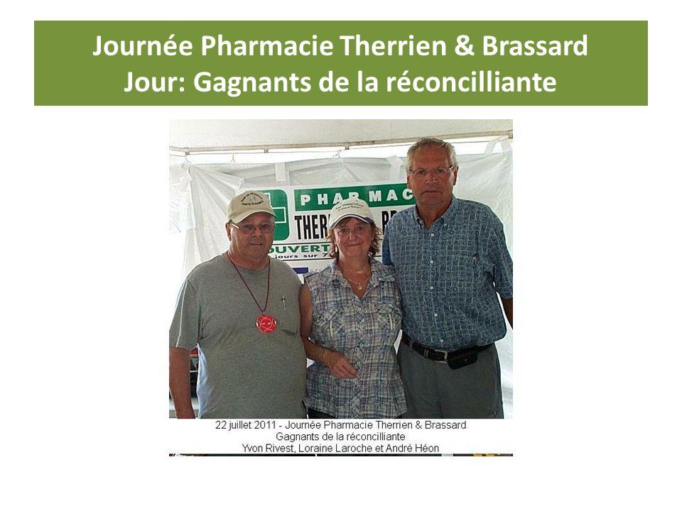 Journée Pharmacie Therrien & Brassard Jour: Gagnants de la réconcilliante