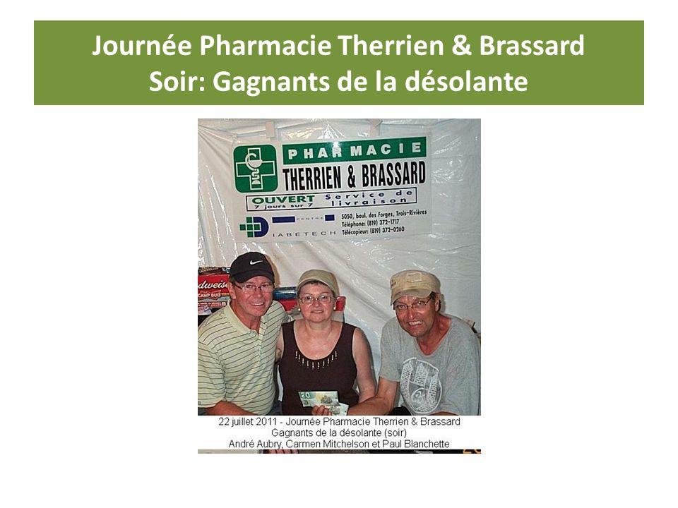Journée Pharmacie Therrien & Brassard Soir: Gagnants de la désolante
