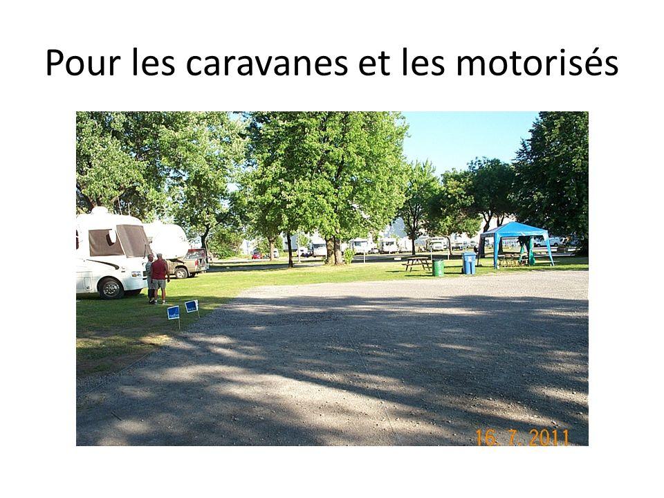 Pour les caravanes et les motorisés