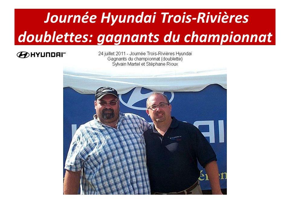 Journée Hyundai Trois-Rivières doublettes: gagnants du championnat