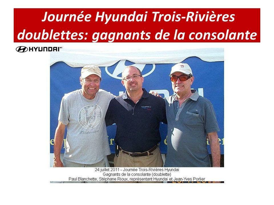 Journée Hyundai Trois-Rivières doublettes: gagnants de la consolante